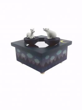 Spieluhr - Tanzendes Reh und Bär