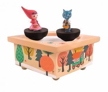 Spieluhr - Tanzende Rotkäppchen und Wolf